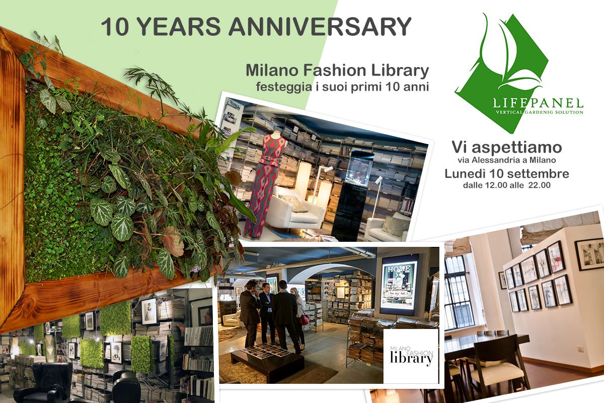 10° anniversario della Milano Fashion Library