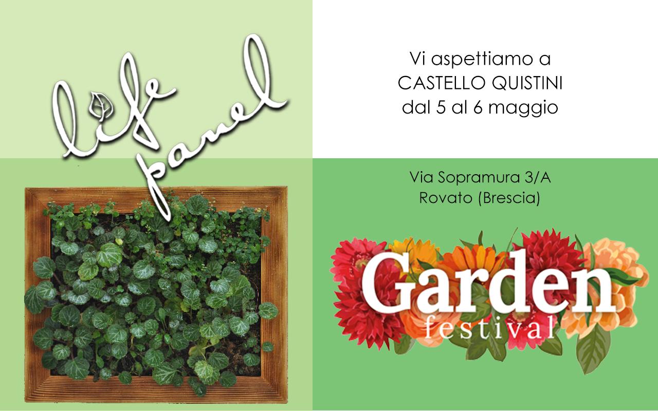Garden Festival 2018 -Life Panel a Castello Quistini